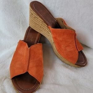 Mila Paoli 8 Suede Leather Italian Wedges